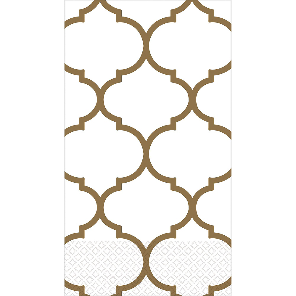 Gold Lattice Premium Guest Towels 48ct with Caddy Image #2