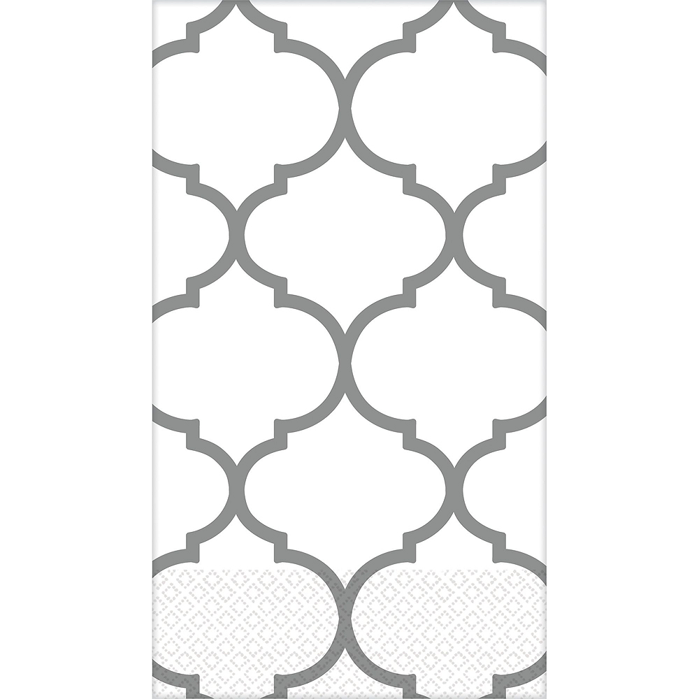 Silver Lattice Premium Guest Towels 48ct with Caddy Image #2