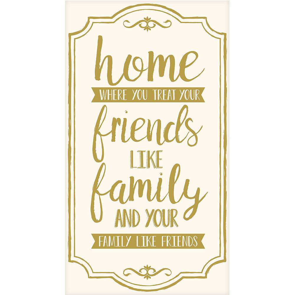 Home, Friends & Family Premium Guest Towels 48ct with Caddy Image #2