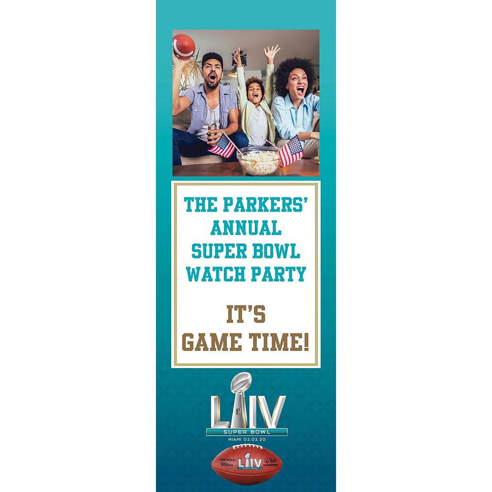 Custom Super Bowl Photo Banner Image #1