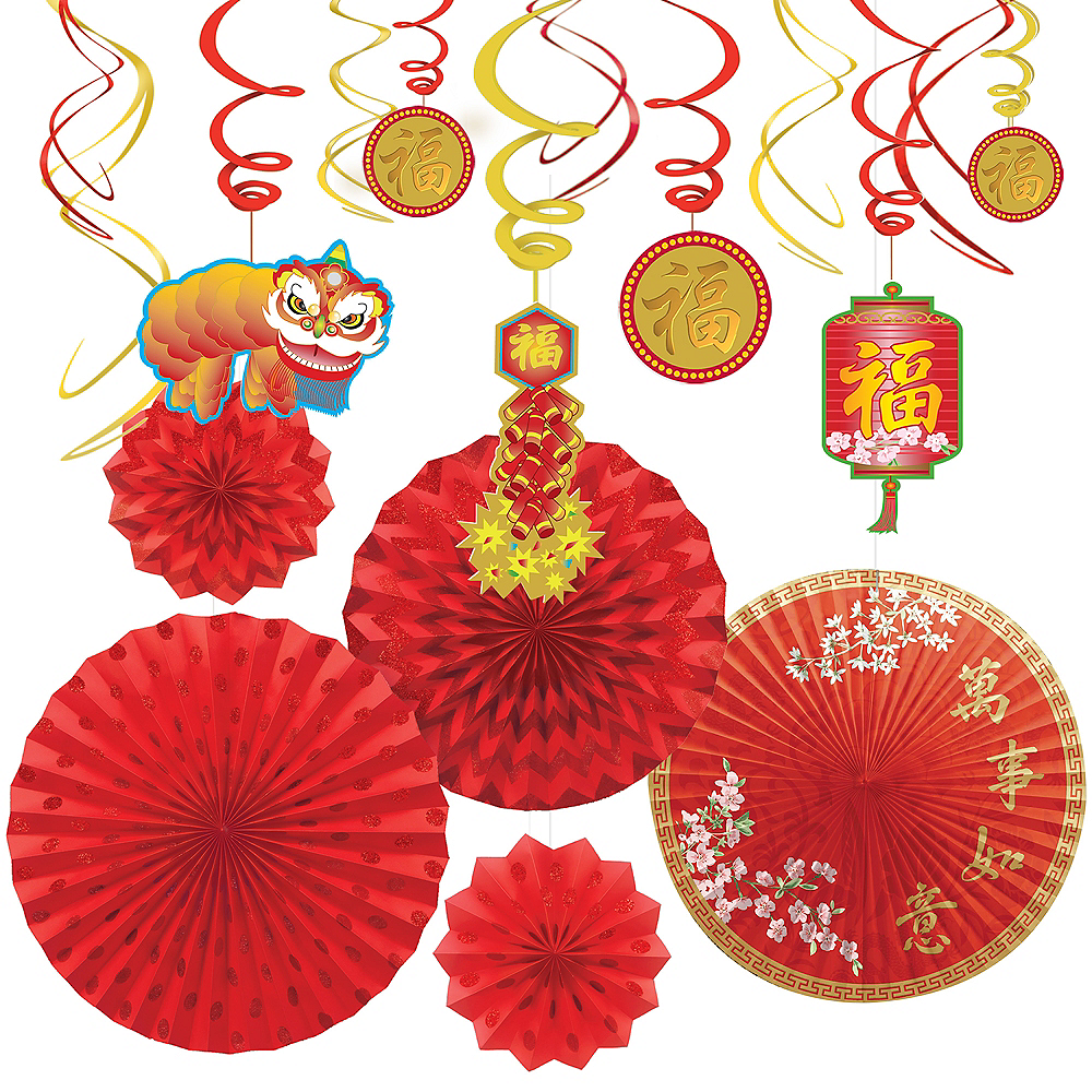 Chinese New Year Fan & Swirl Decorating Kit Image #1