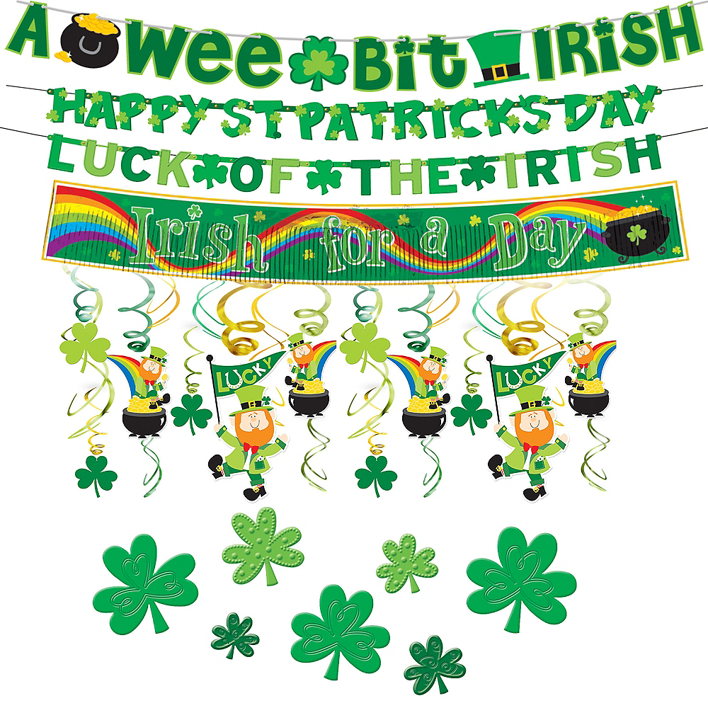 St. Patrick's Day Window Decorating Kit Image #1
