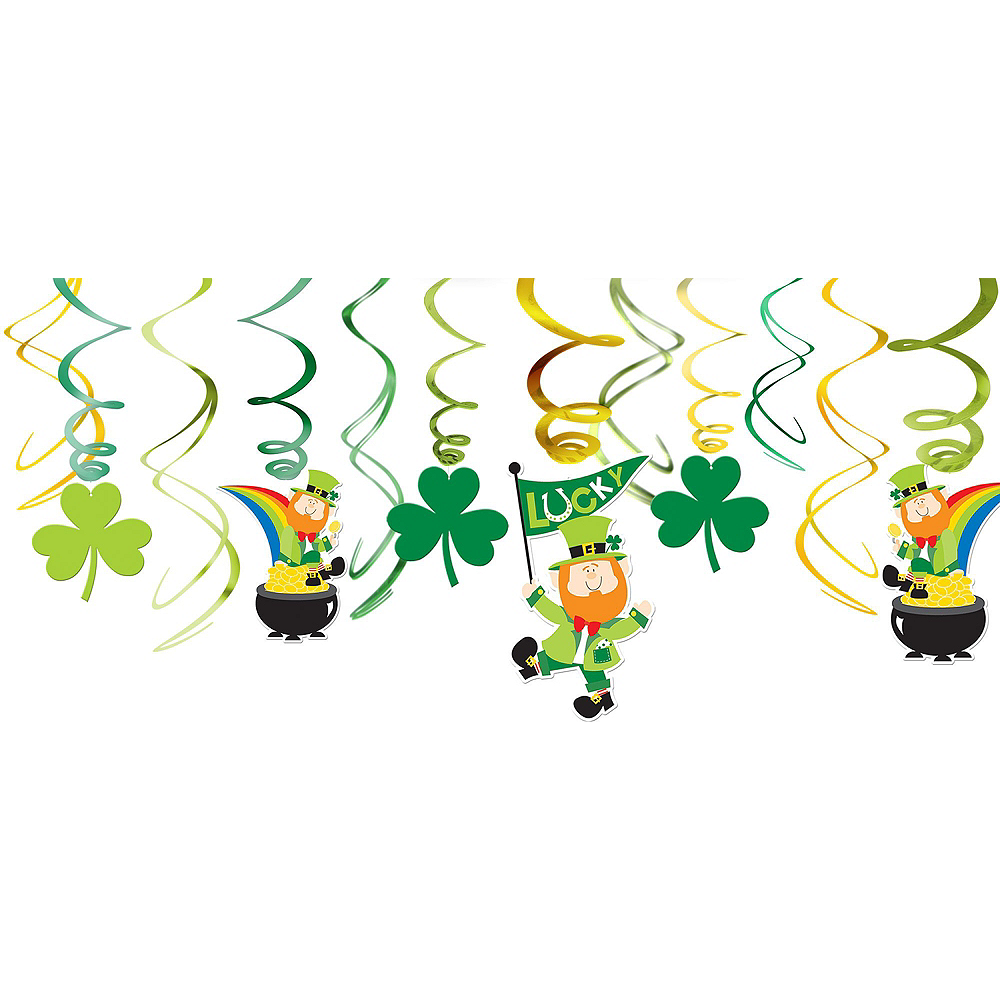 St. Patrick's Day Window Decorating Kit Image #3