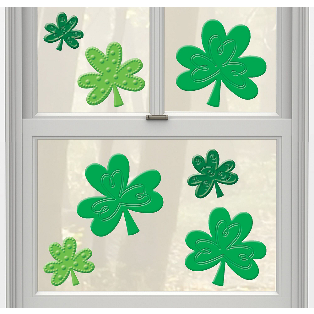St Patricks Day Window Clings Decals Kit