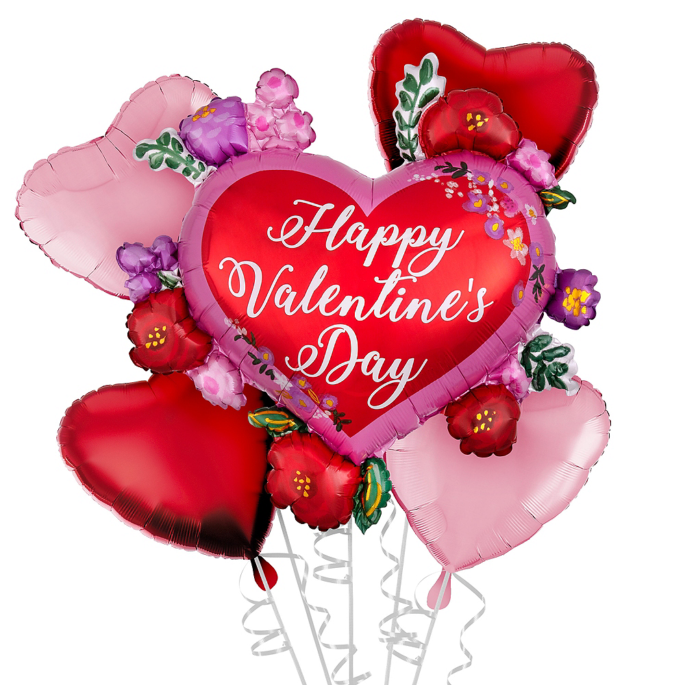 Valentine's Day Floral Heart Balloon Kit Image #1