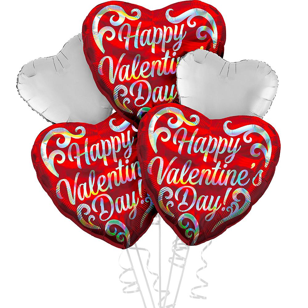 Silver Happy Valentine's Day Heart Balloon Kit Image #1