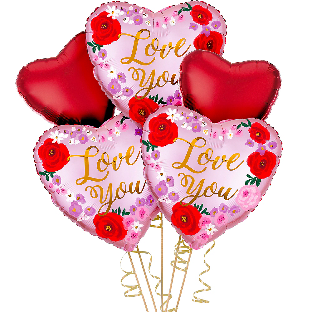 Love You Floral Valentine's Day Balloon Kit Image #1