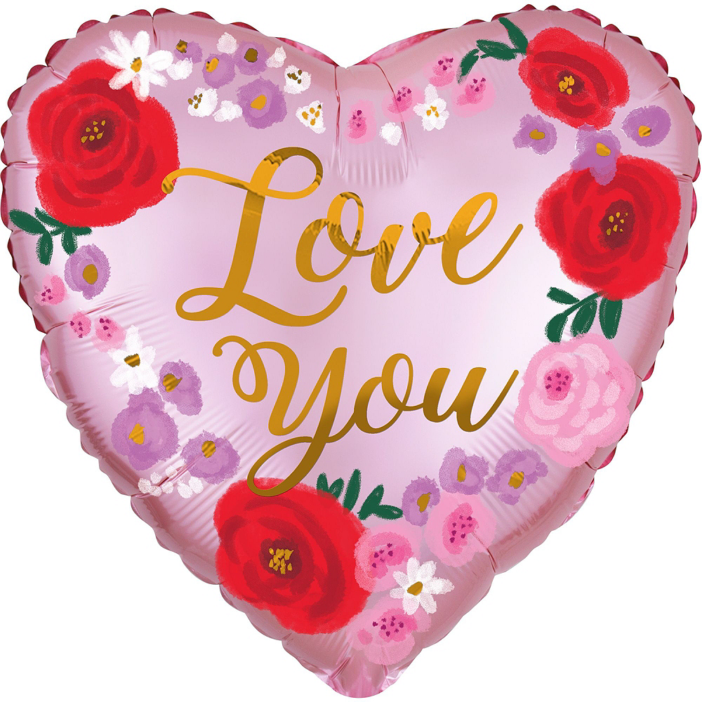Love You Floral Valentine's Day Balloon Kit Image #4