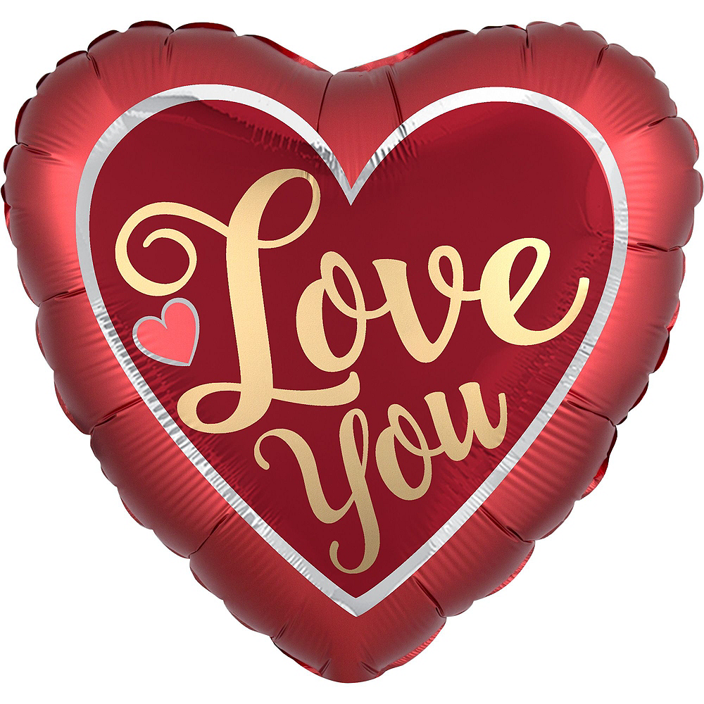 Red & Gold Love You Balloon Kit Image #5