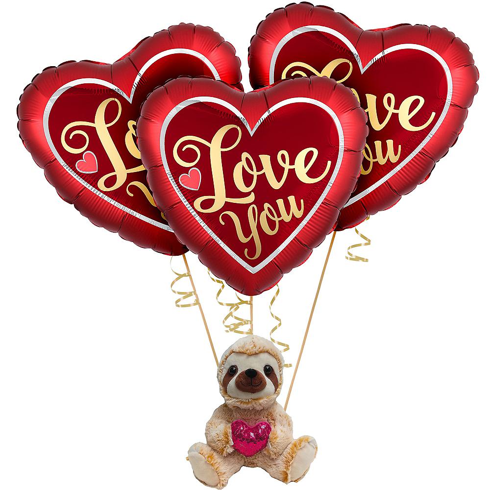 Valentine's Day Sloth Balloon Kit Image #1
