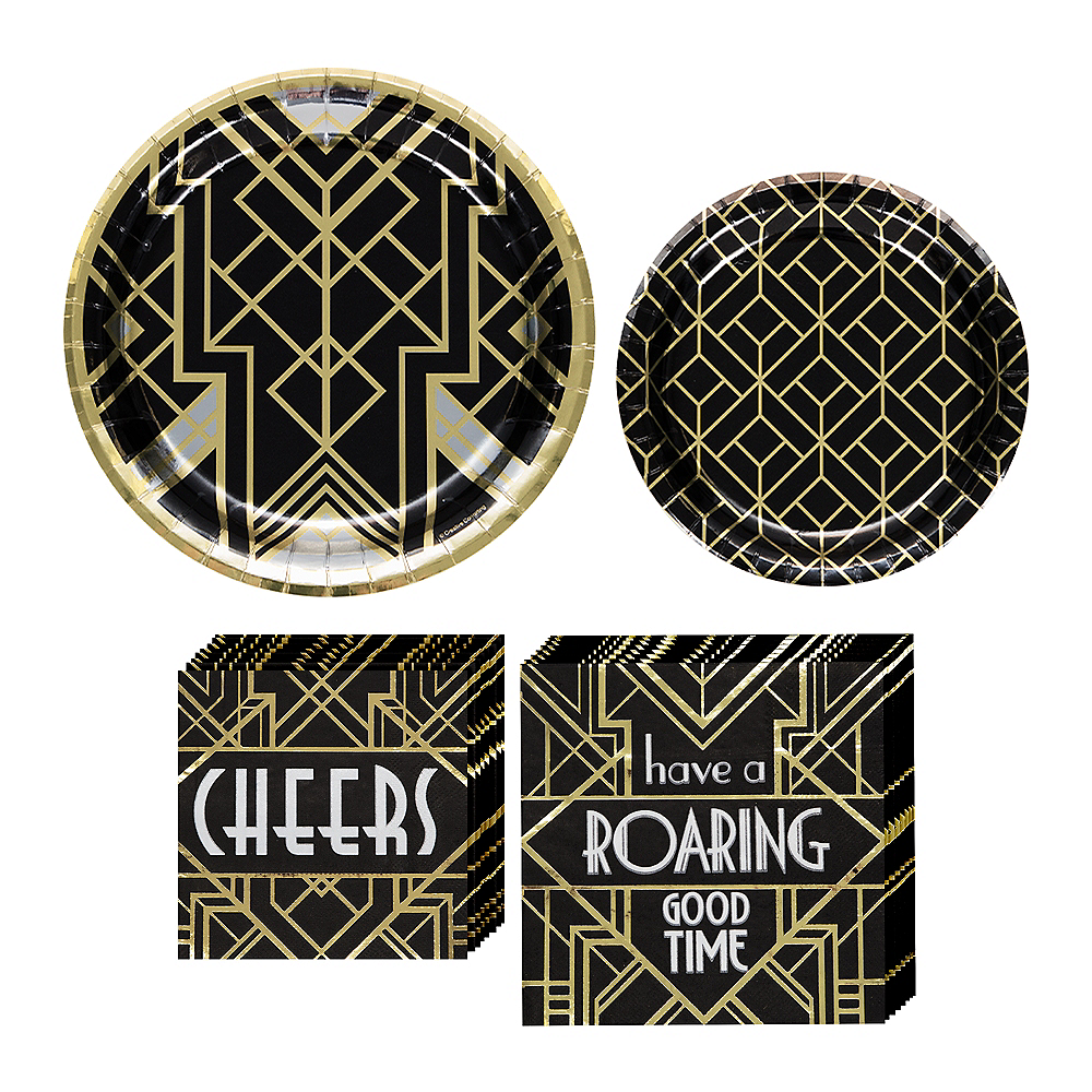 Roaring 20s Tableware Kit for 16 Guests Image #1