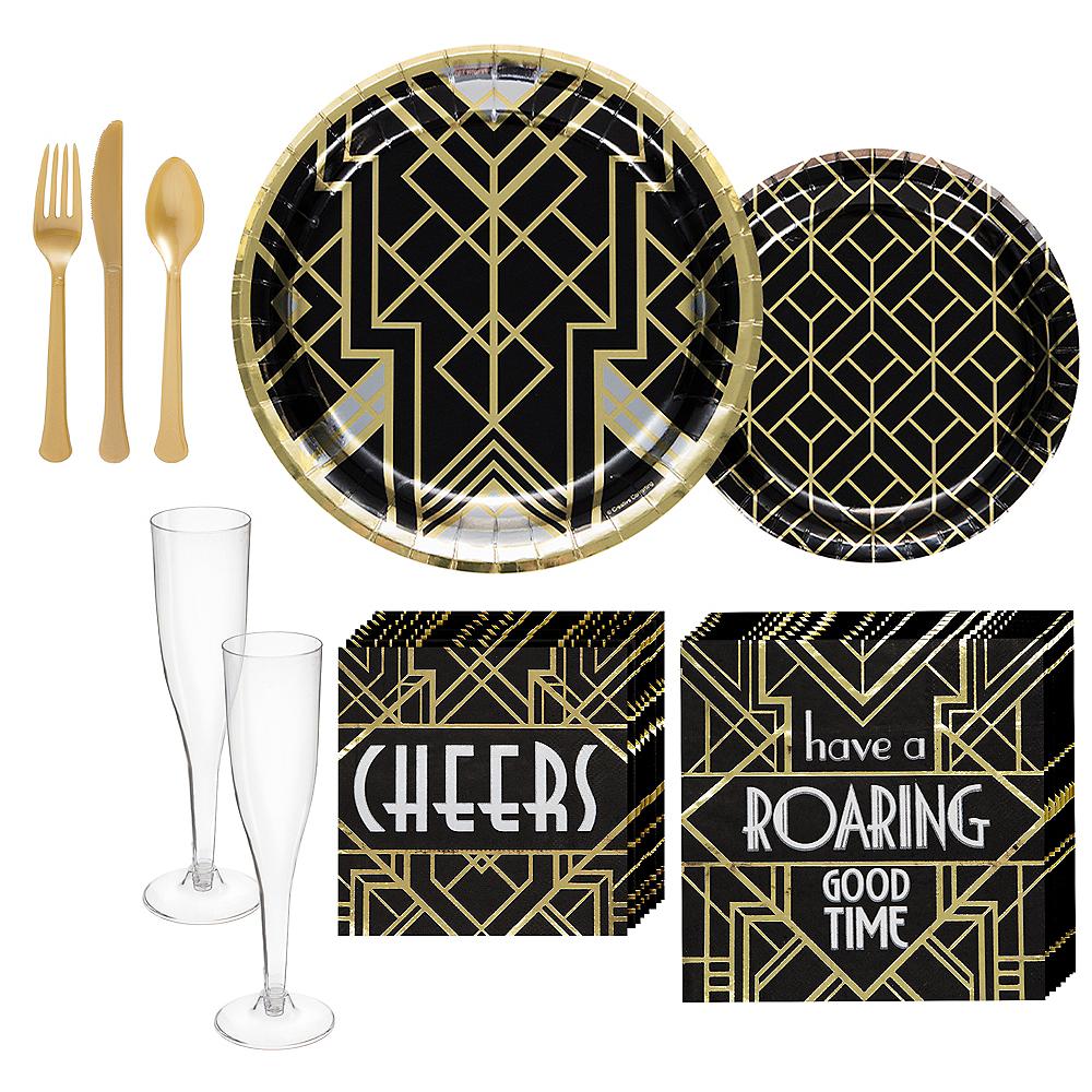 Super Roaring 20s Tableware Kit for 16 Guests Image #1