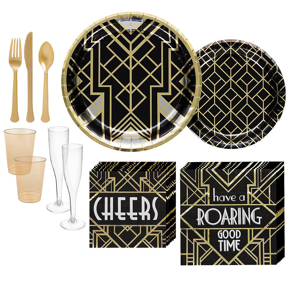 Super Roaring 20s Tableware Kit for 32 Guests Image #1