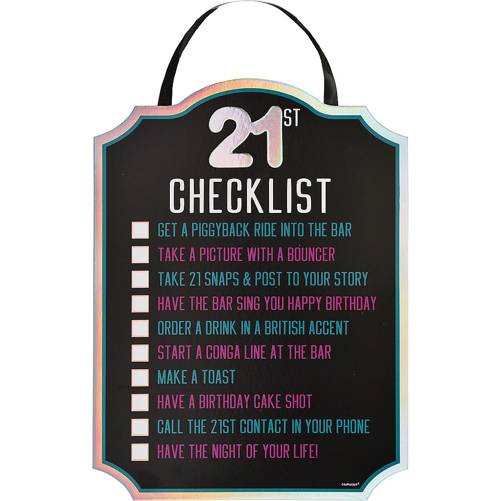 Finally 21 Birthday Checklist Sign Image #1