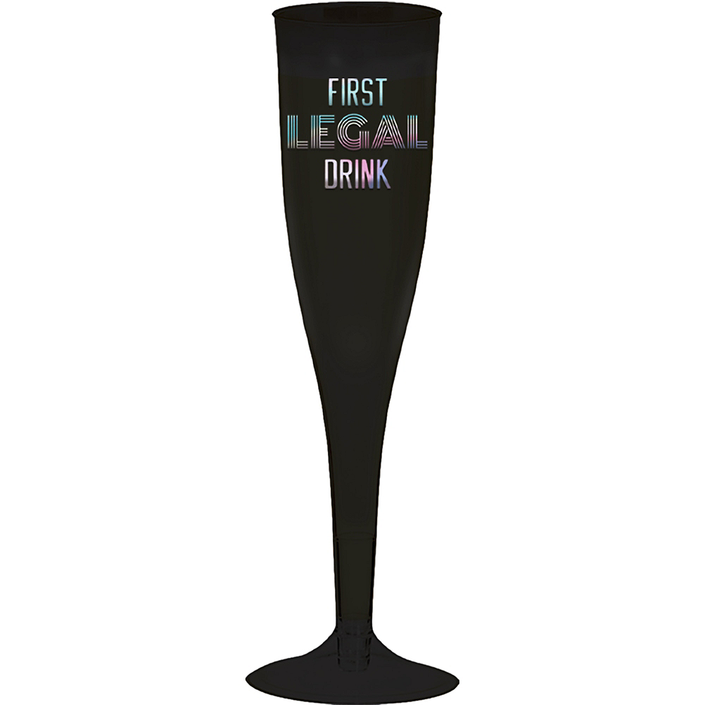 Iridescent Finally 21 Champagne Flutes, 5.5oz, 16ct Image #1