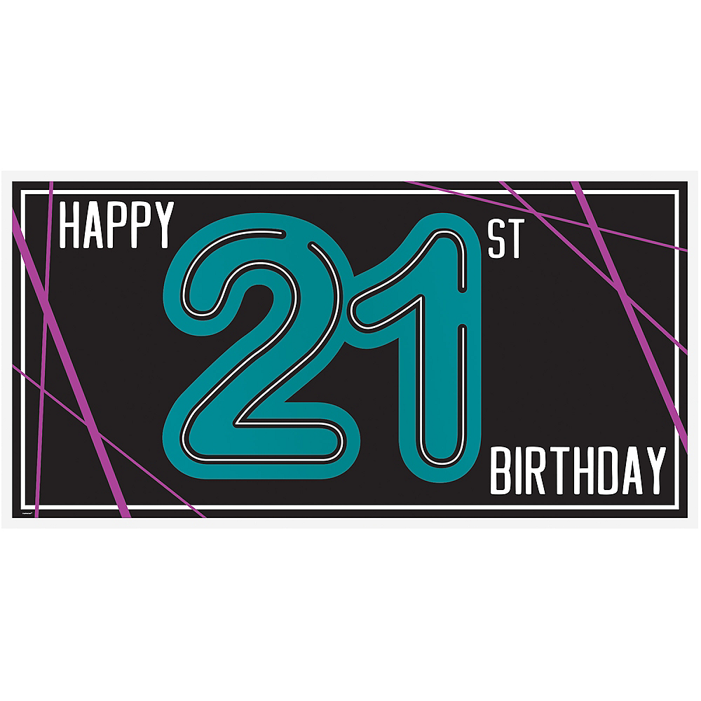 Finally 21 Birthday Horizontal Banner Image #1