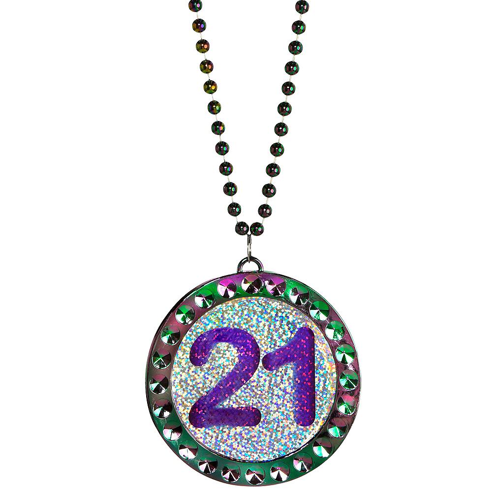 Finally 21 Birthday Pendant Bead Necklace Image #1