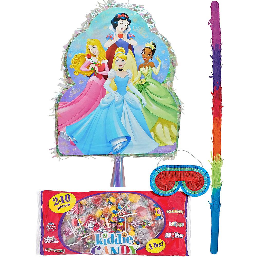 Pull String Disney Princess Pinata Kit with Candy Image #1