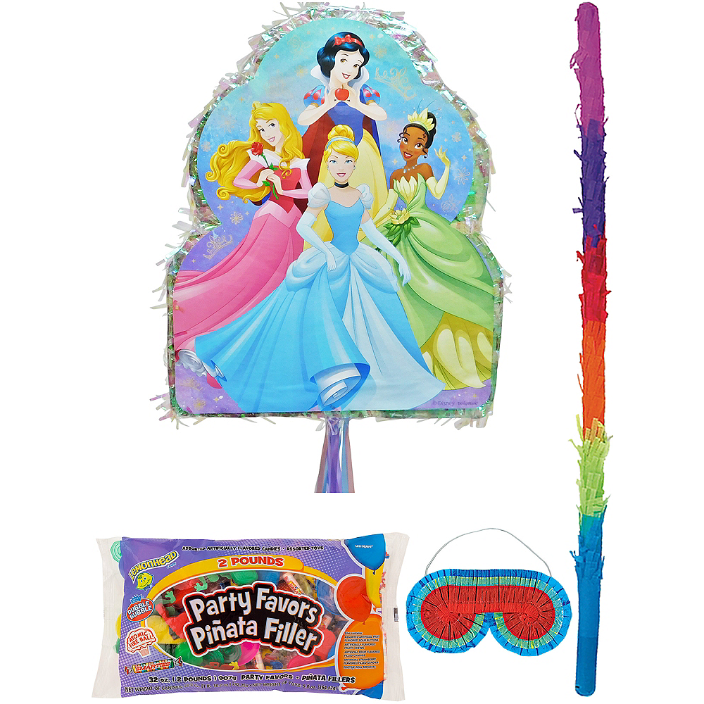 Nav Item for Pull String Disney Princess Pinata Kit with Candy & Favors Image #1