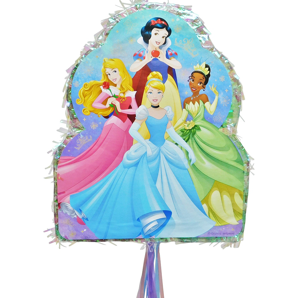 Nav Item for Pull String Disney Princess Pinata Kit with Candy & Favors Image #2