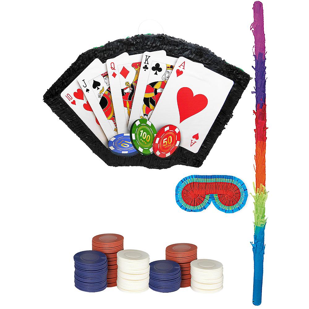 Poker Hand Pinata Kit with Favors Image #1