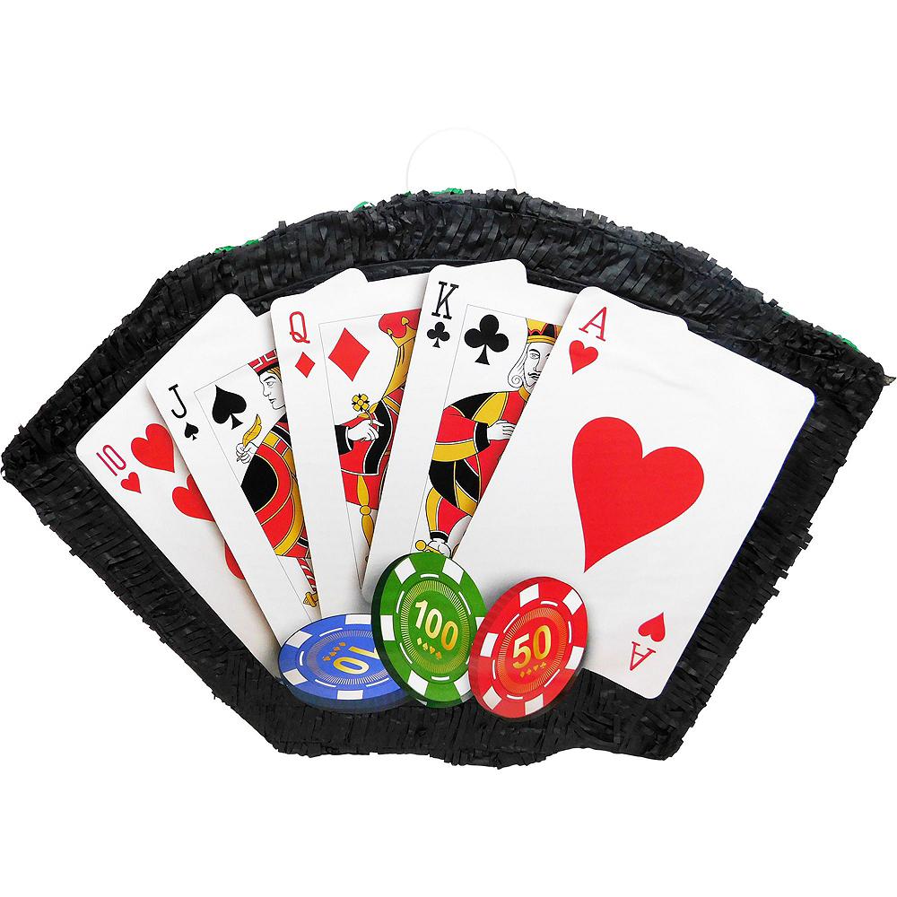 Poker Hand Pinata Kit with Favors Image #2