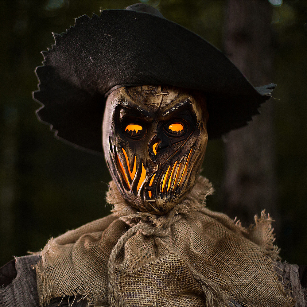 Light-Up Twisted Jack Scarecrow with Sound Image #3