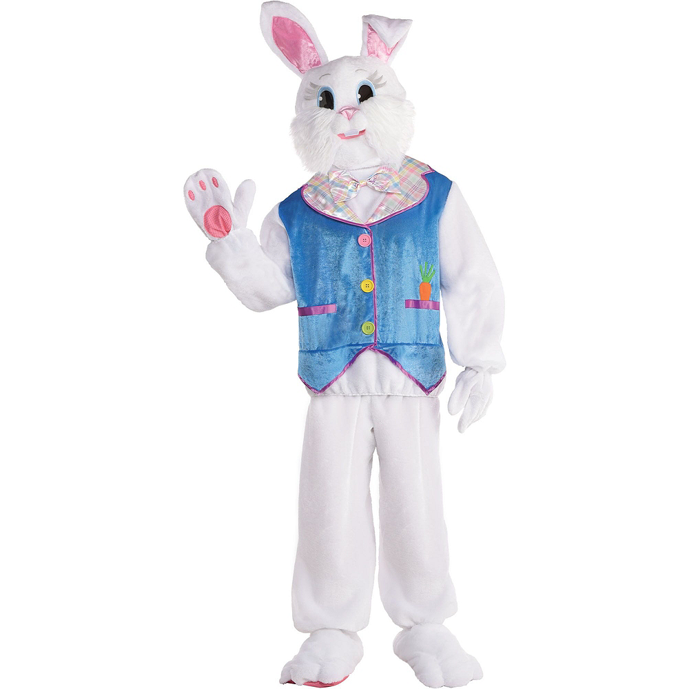 Adult Purple Jacket Easter Bunny Costume & Fillable Multicolor Eggs 500ct Image #2