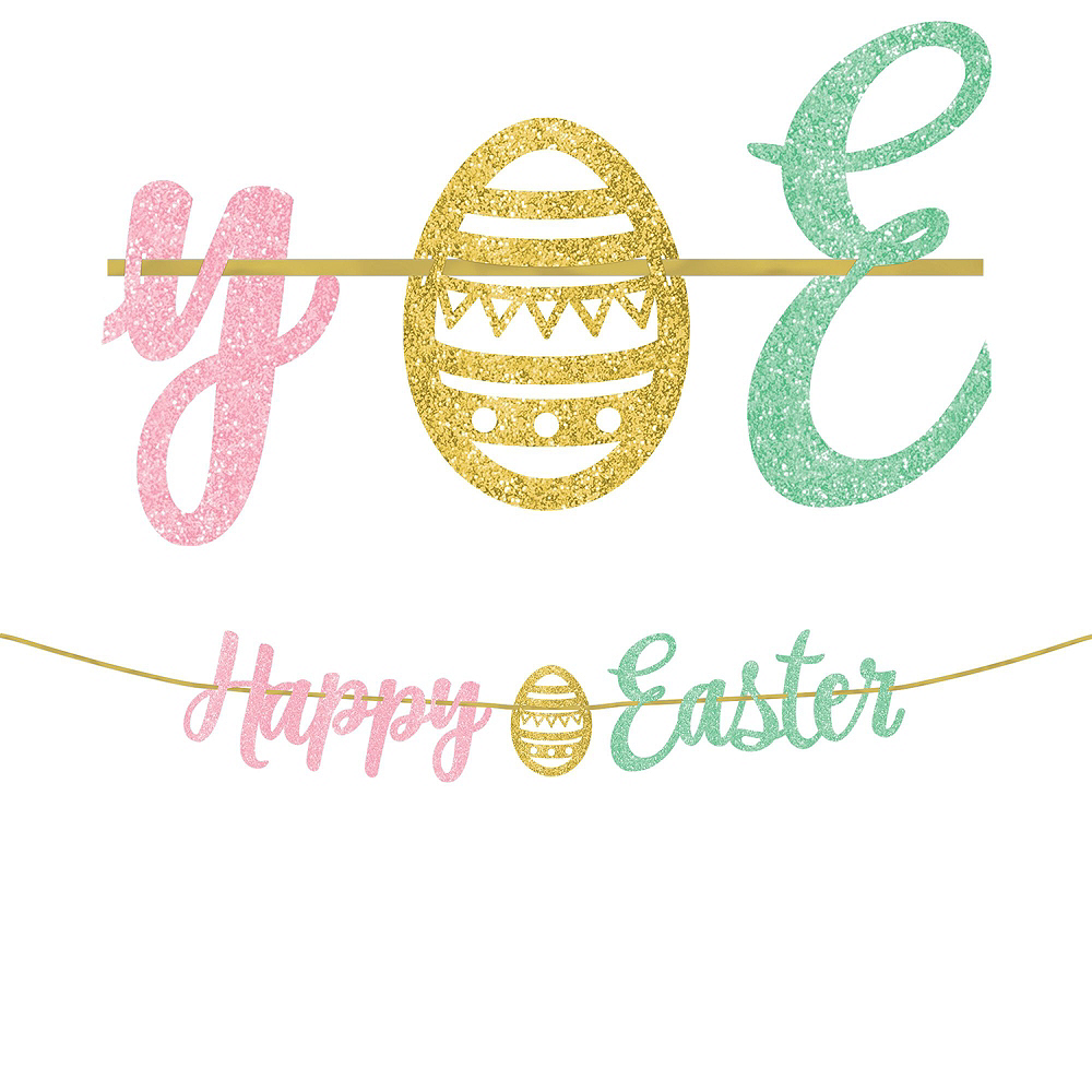Hello Bunny Letter Happy Easter Decorating Kit 5pc Image #2