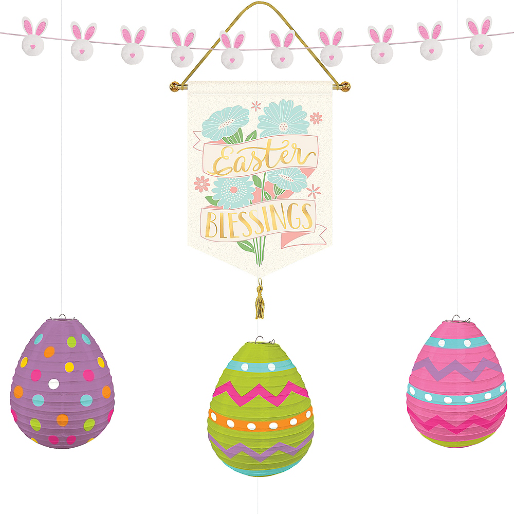 Hello Bunny Pretty Pastel Easter Decorating Kit 8pc Image #1