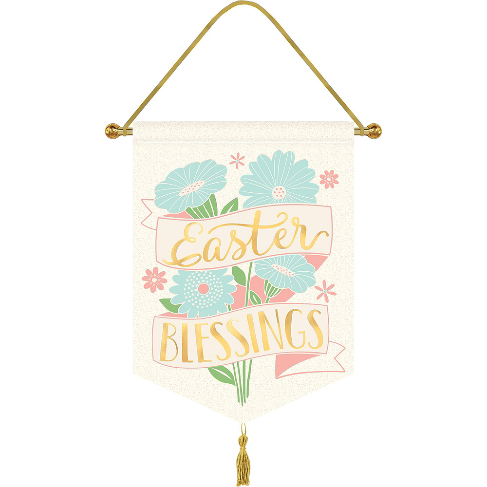 Hello Bunny Pretty Pastel Easter Decorating Kit 8pc Image #2