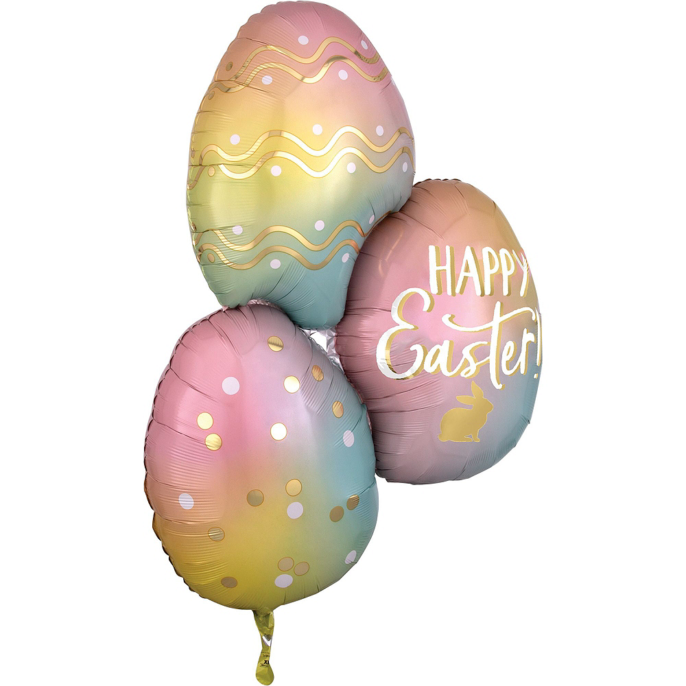 Ombre Easter Eggs Balloon Bouquet Kit 3pc Image #4
