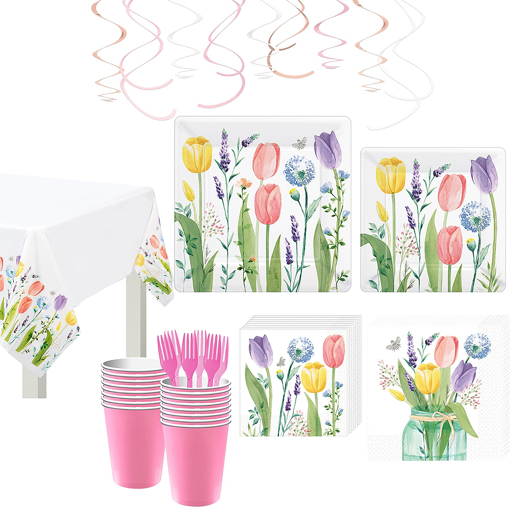 Tulip Garden Tableware Kit for 16 Guests Image #1