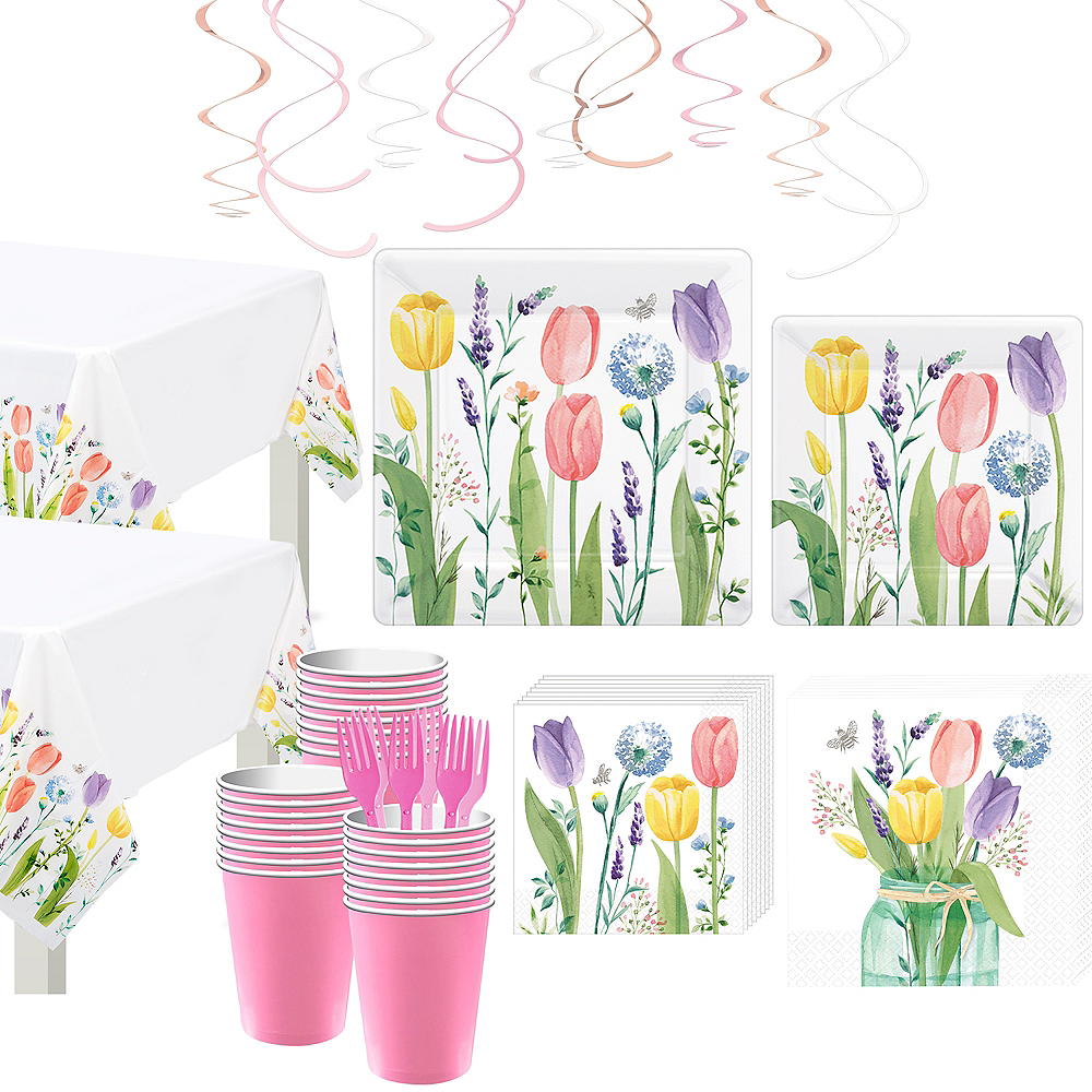 Tulip Garden Tableware Kit for 32 Guests Image #1