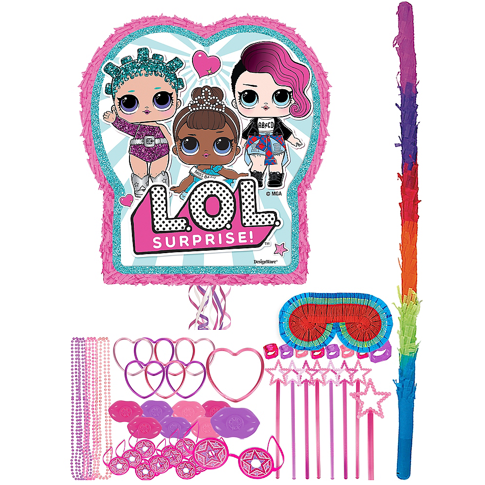 Pull String L.O.L. Surprise! Pinata Kit with Favors Image #1