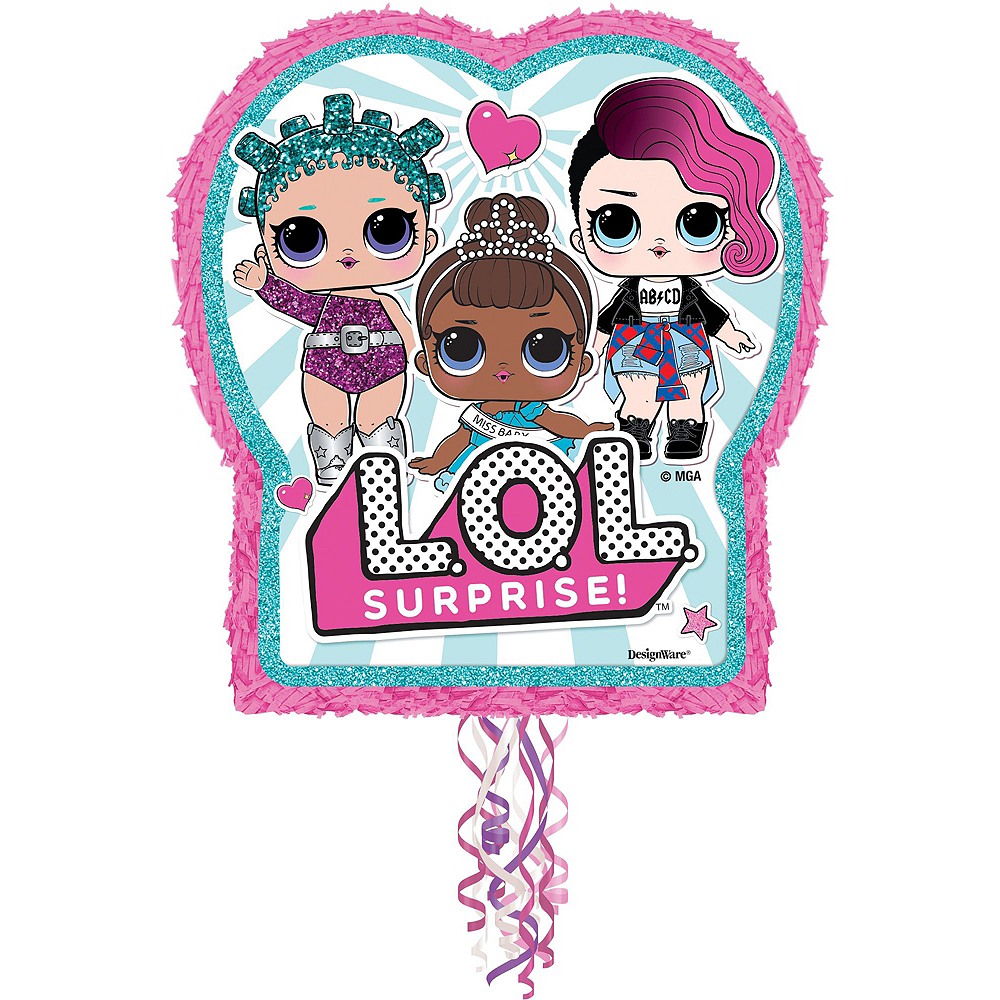 Pull String L.O.L. Surprise! Pinata Kit with Favors Image #2