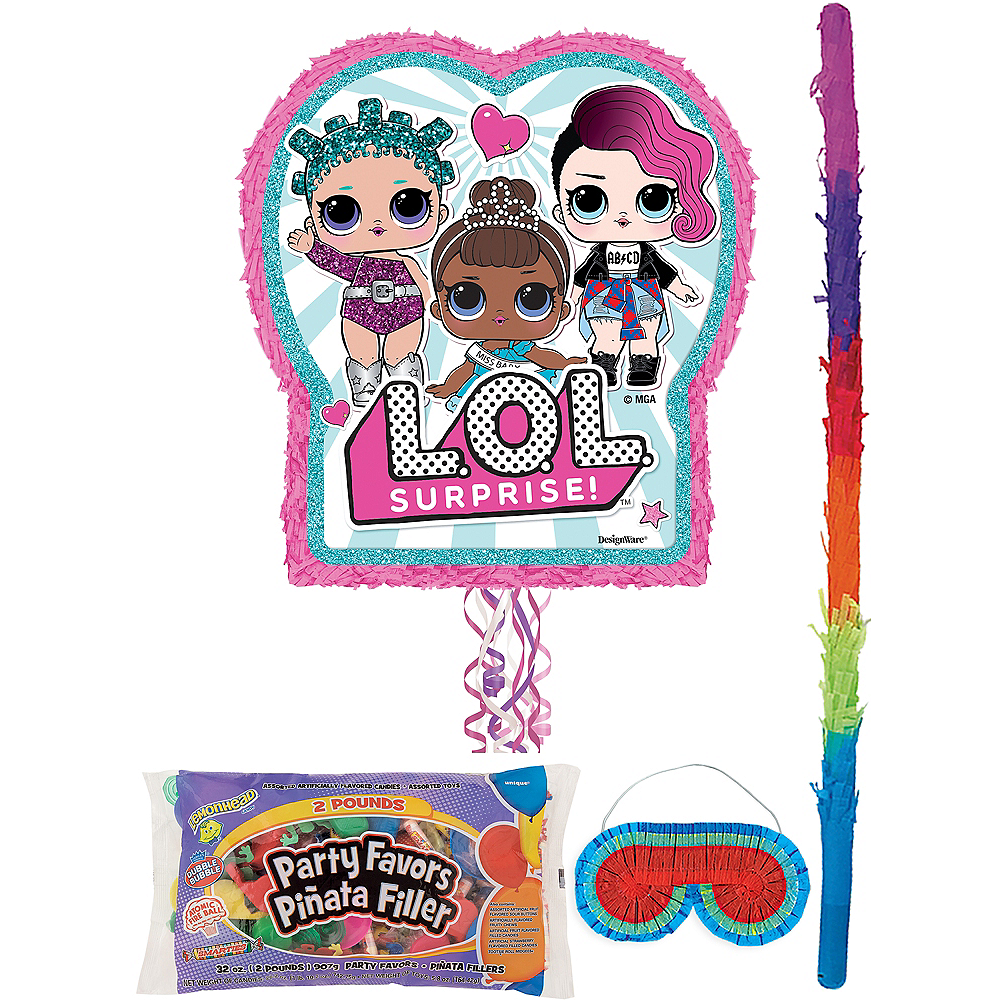 Pull String L.O.L. Surprise! Pinata Kit with Candy & Favors Image #1
