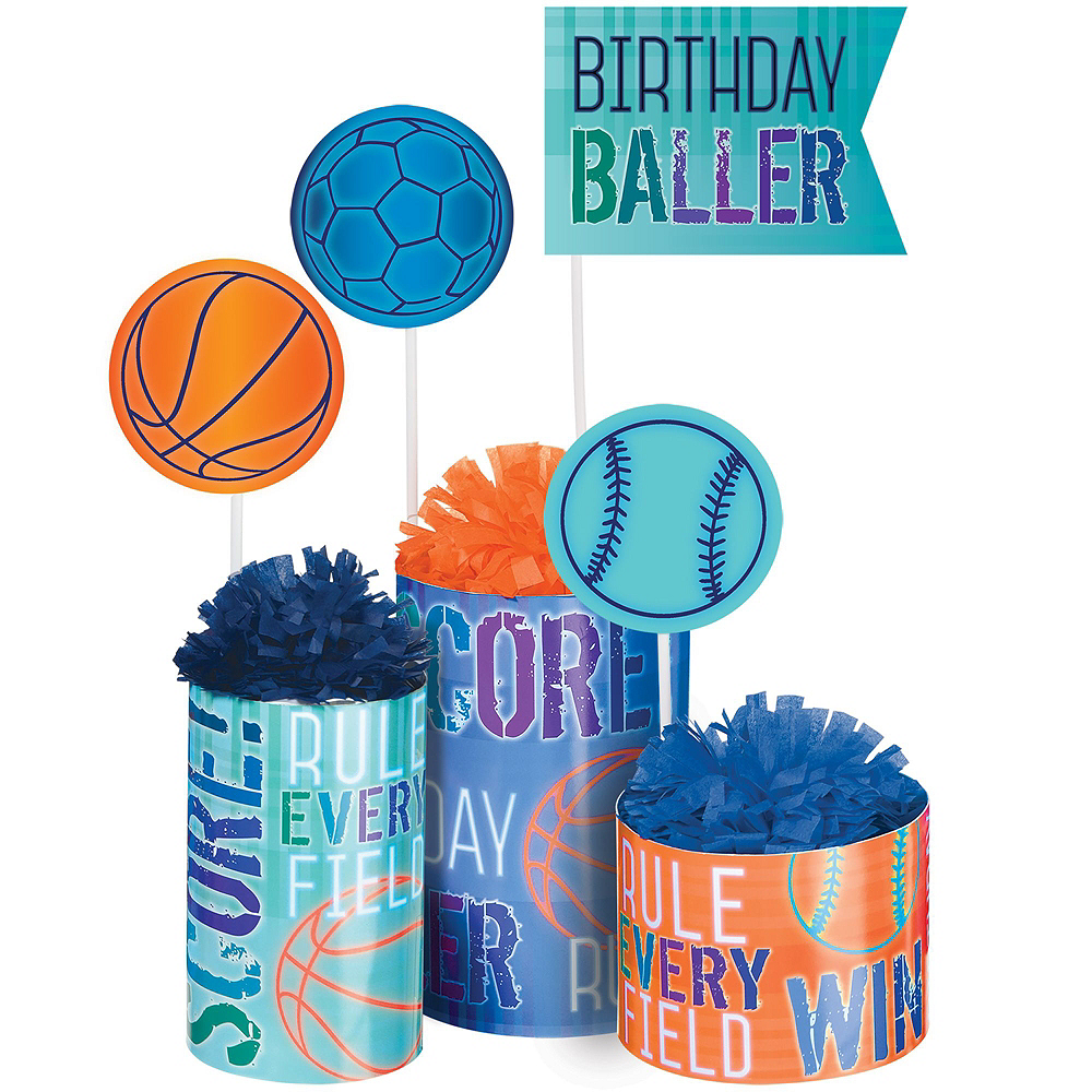 Birthday Baller Tableware Kit for 16 Guests Image #9