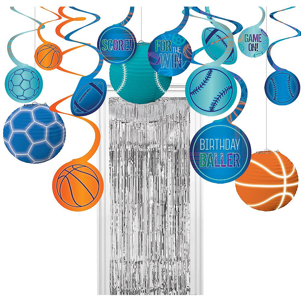 Birthday Baller Room Decorating Kit Image #1