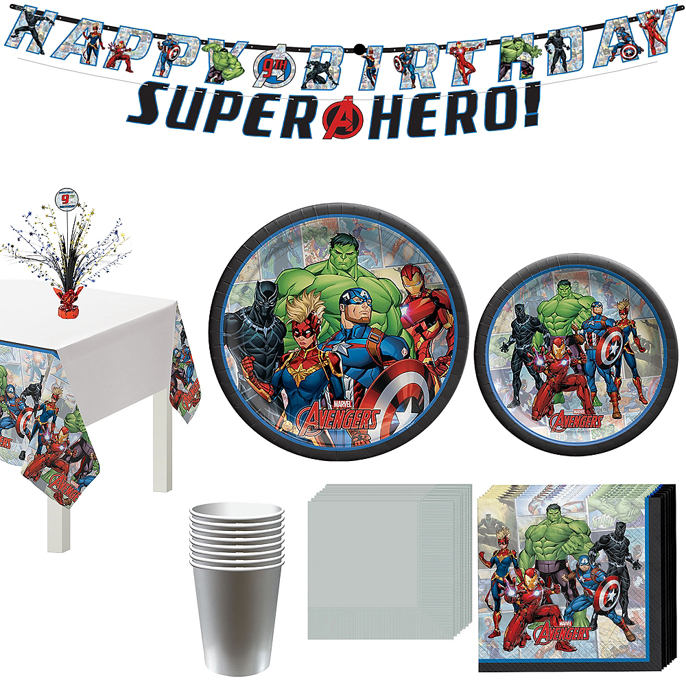 Marvel Powers Unite Tableware Kit for 8 Guests Image #1