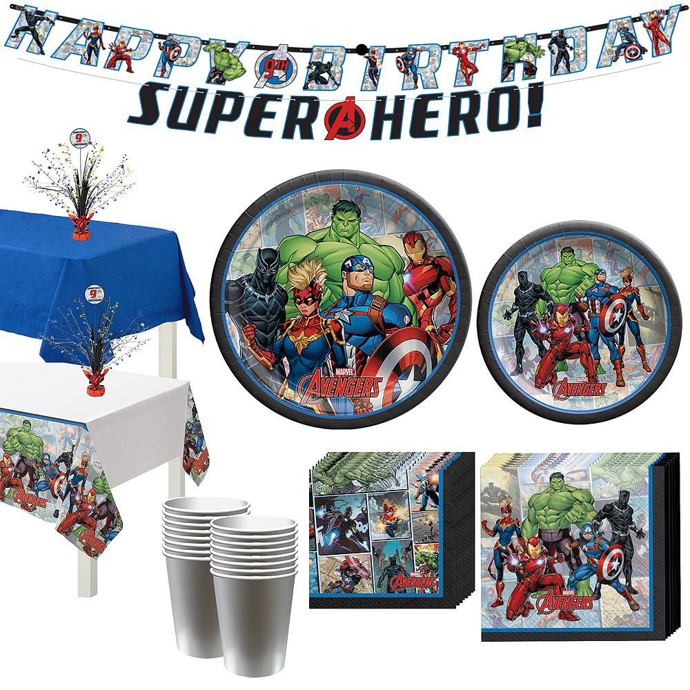 Marvel Powers Unite Tableware Kit for 16 Guests Image #1