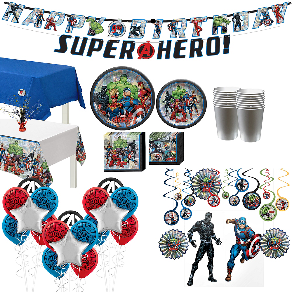 Marvel Powers Unite Ultimate Tableware Kit for 16 Guests Image #1