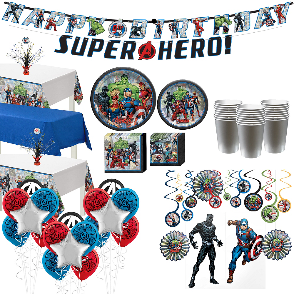 Marvel Powers Unite Ultimate Tableware Kit for 24 Guests Image #1