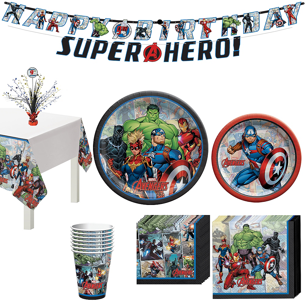 Marvel Powers Unite Captain America Tableware Kit for 8 Guests Image #1