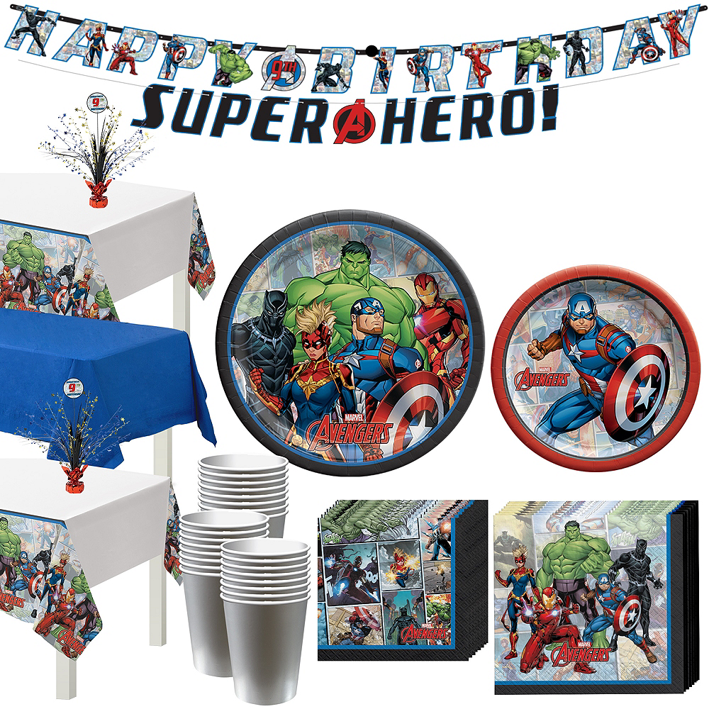 Marvel Powers Unite Captain America Tableware Kit for 24 Guests Image #1