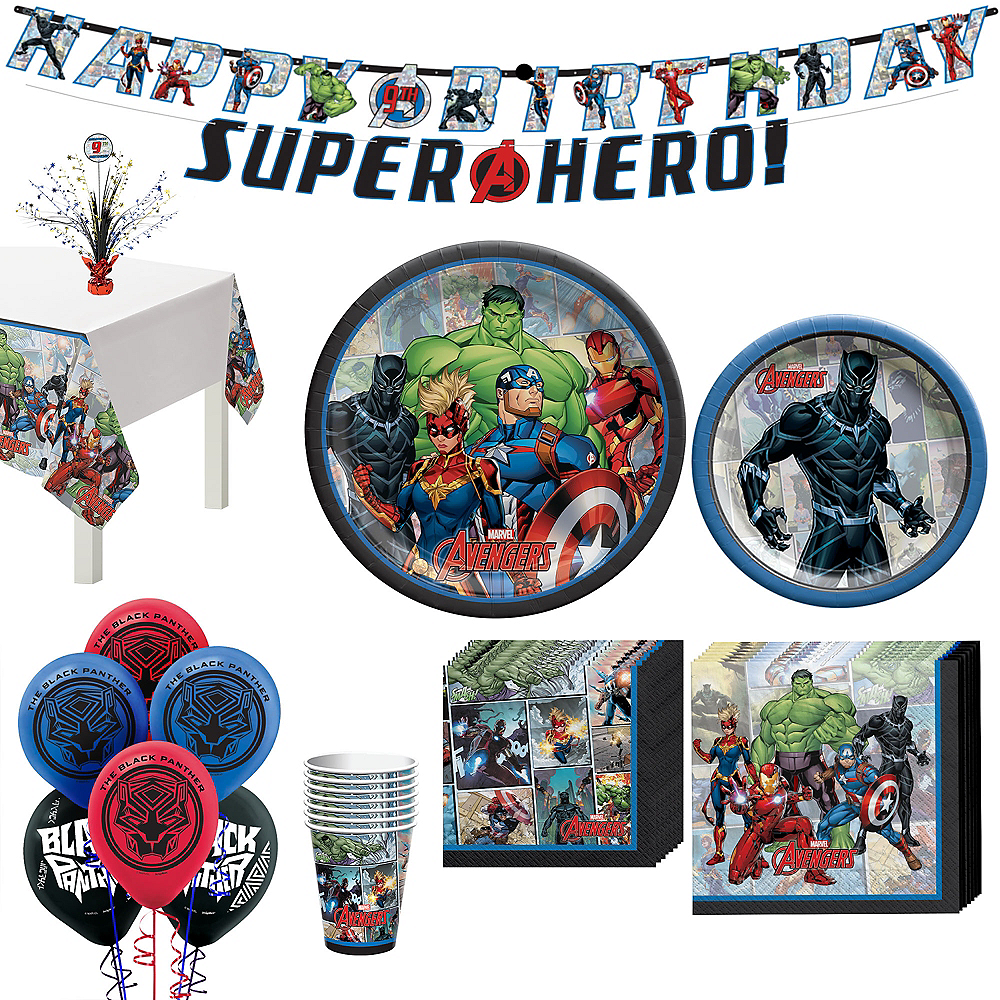 Marvel Powers Unite Black Panther Tableware Kit for 8 Guests Image #1