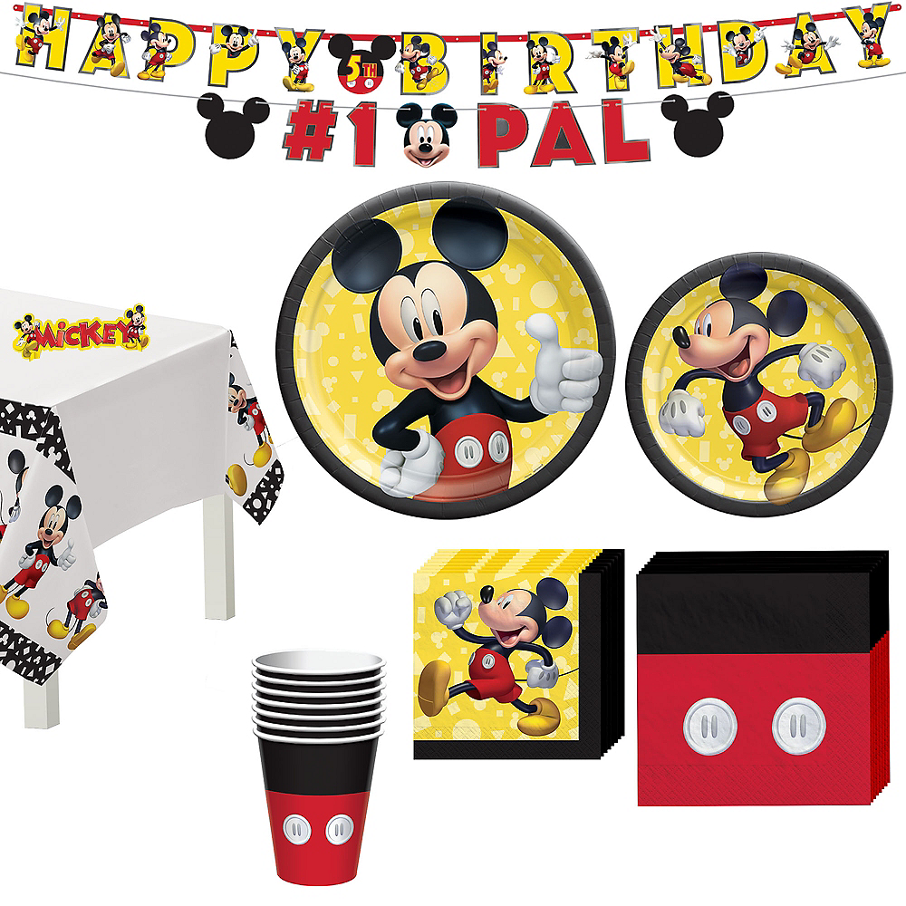 Mickey Mouse Forever Tableware Kit for 8 Guests Image #1