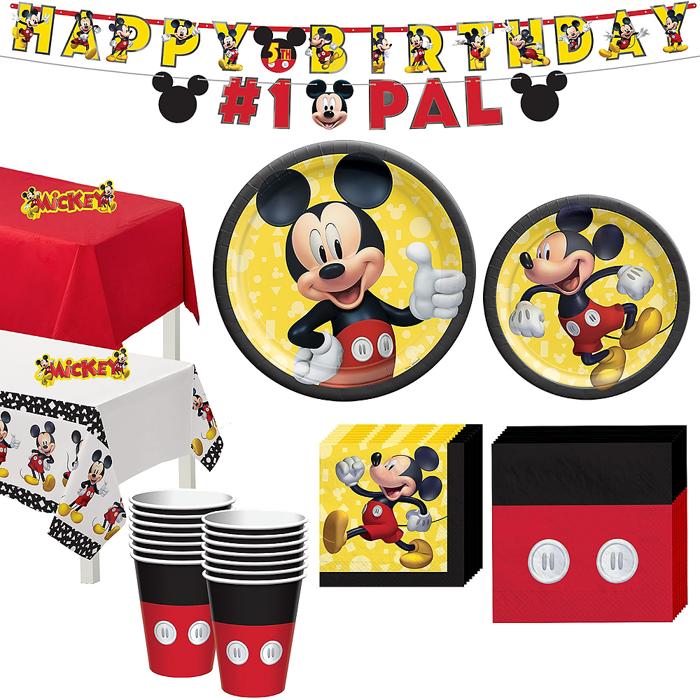 Mickey Mouse Forever Tableware Kit for 16 Guests Image #1