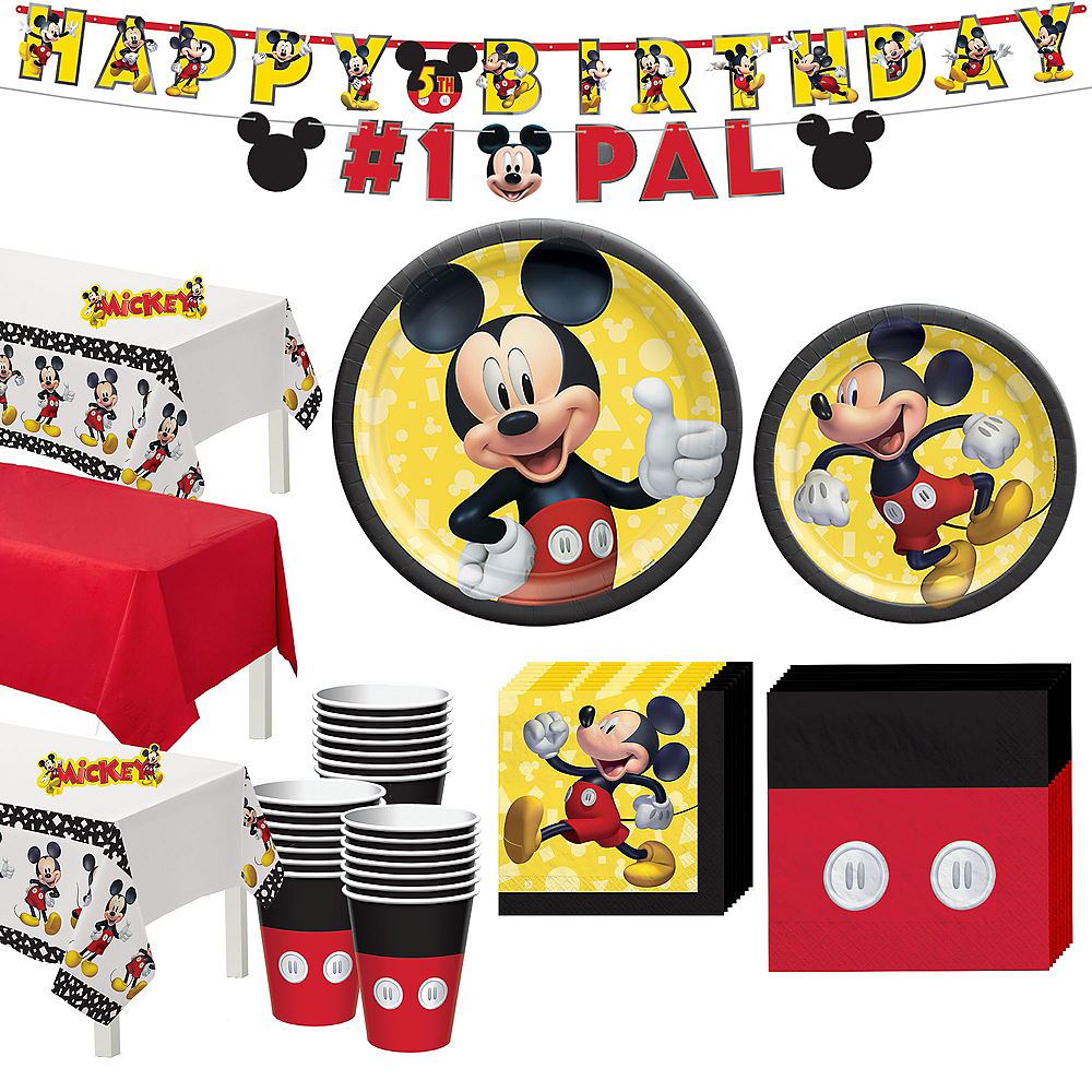 Mickey Mouse Forever Tableware Kit for 24 Guests Image #1