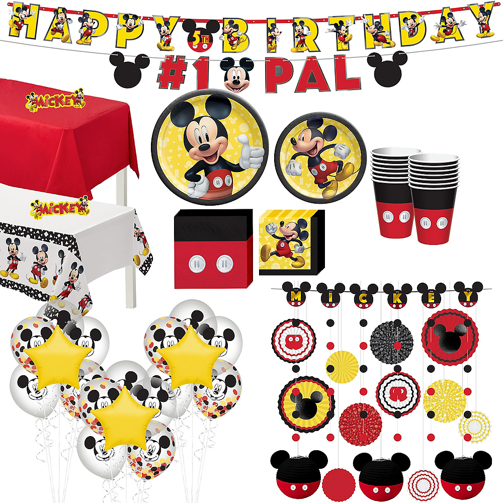 Mickey Mouse Forever Ultimate Tableware Kit for 16 Guests Image #1